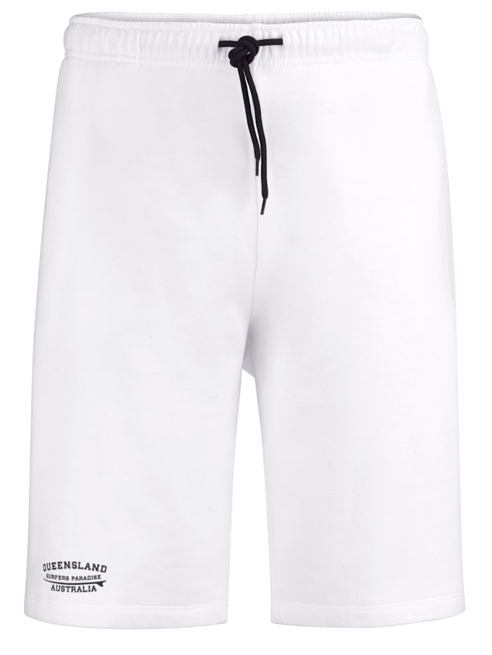 Men Plus Shorts med litet tryck, Vit/Svart