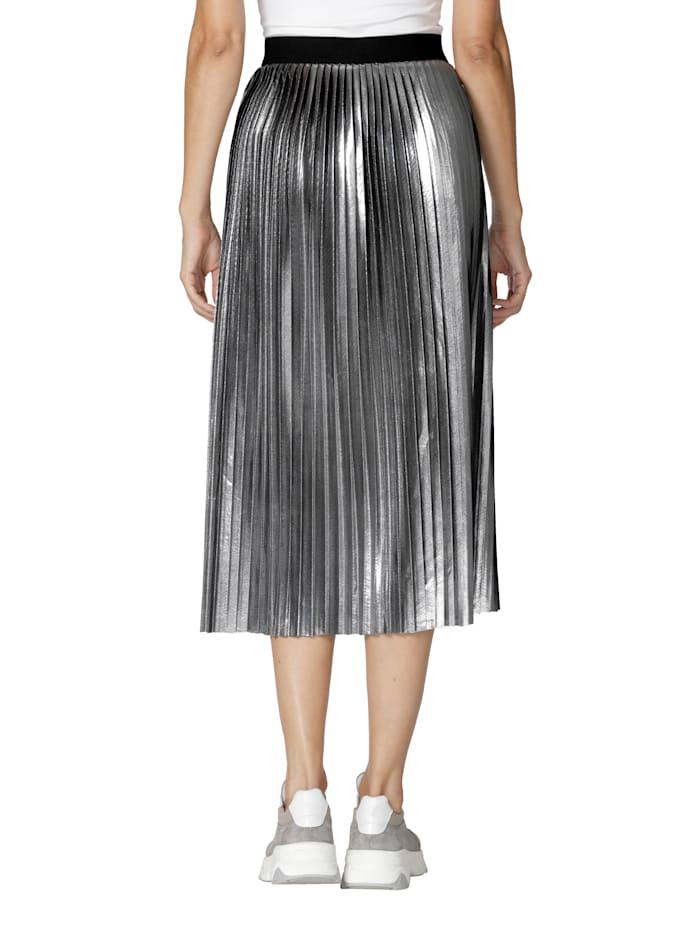 Plisovaná sukňa s metalickým efektom