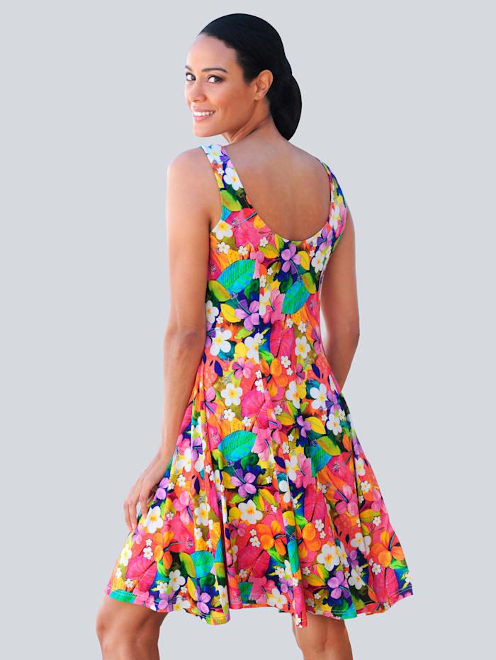 Strandkleid mit buntem Blumendruck