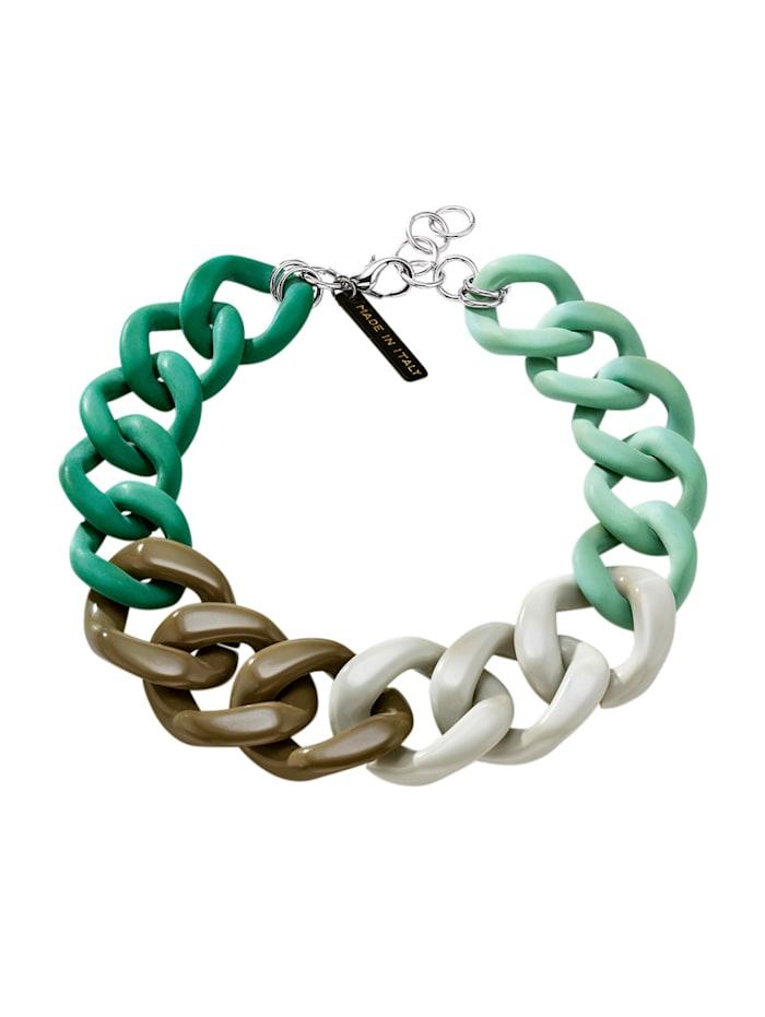 KLiNGEL Halskette mit farbigen Gliedern, Grün