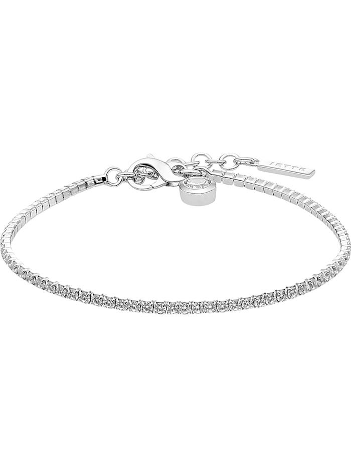 Jette JETTE Damen-Armband 925er Silber rhodiniert 72 Zirkonia, silber