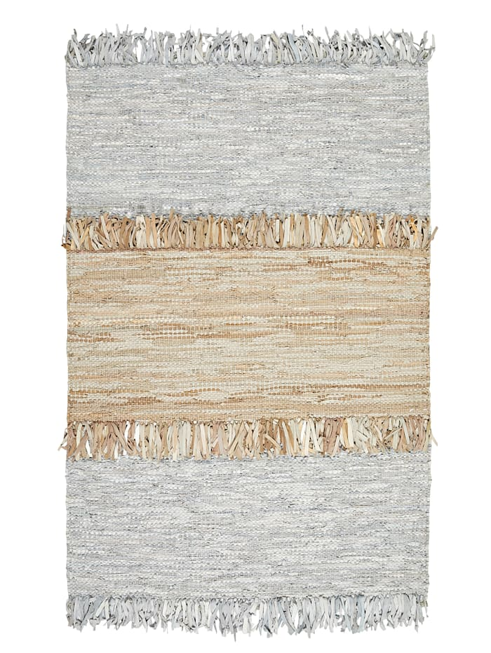 MARAVILLA Leder-Teppich, Grau