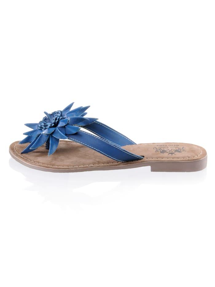 Otto Kern Nu-pieds à application florale, Bleu