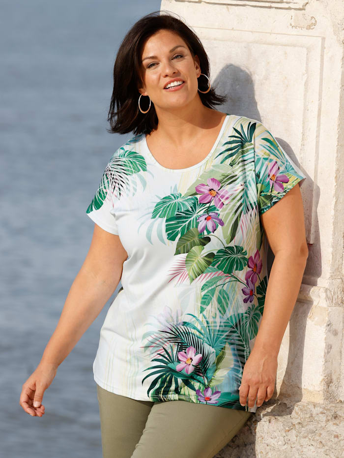 m. collection Shirt in licht getailleerd model, Wit