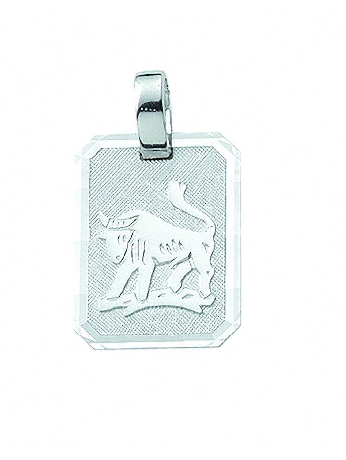 1001 Diamonds Damen & Herren Silberschmuck 925 Silber Sternzeichen Anhänger Stier, silber