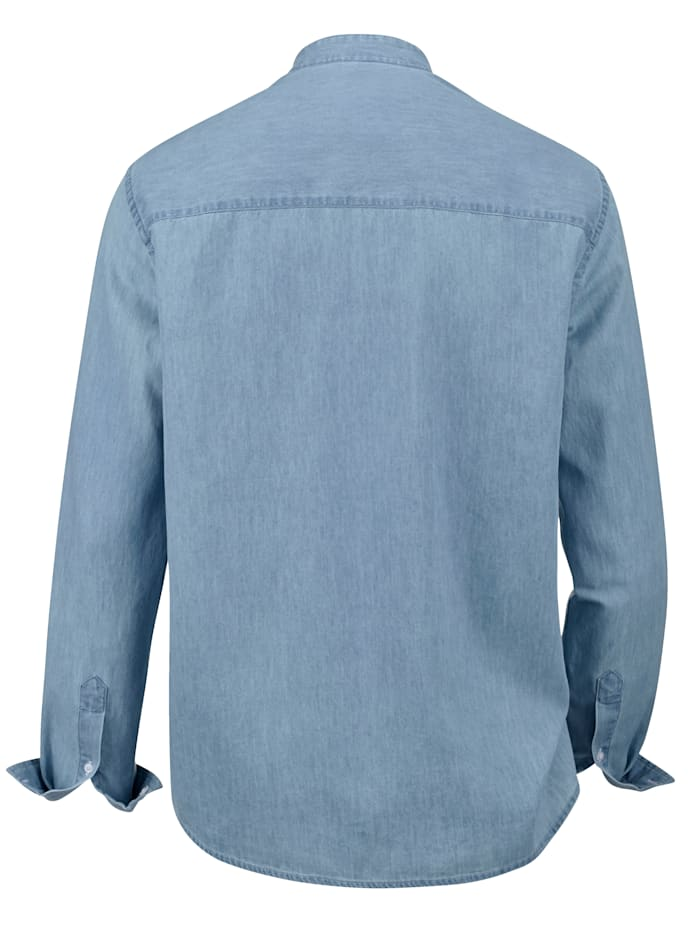 Chemise en jean à col montant mode