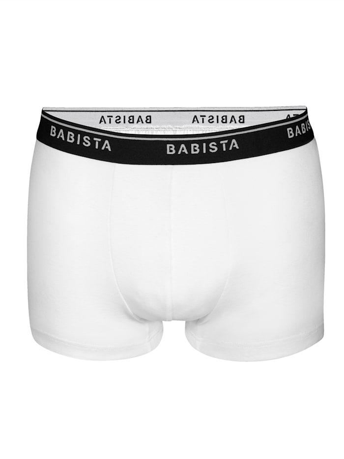 BABISTA Bokserit, Valkoinen/Laivastonsininen/Musta