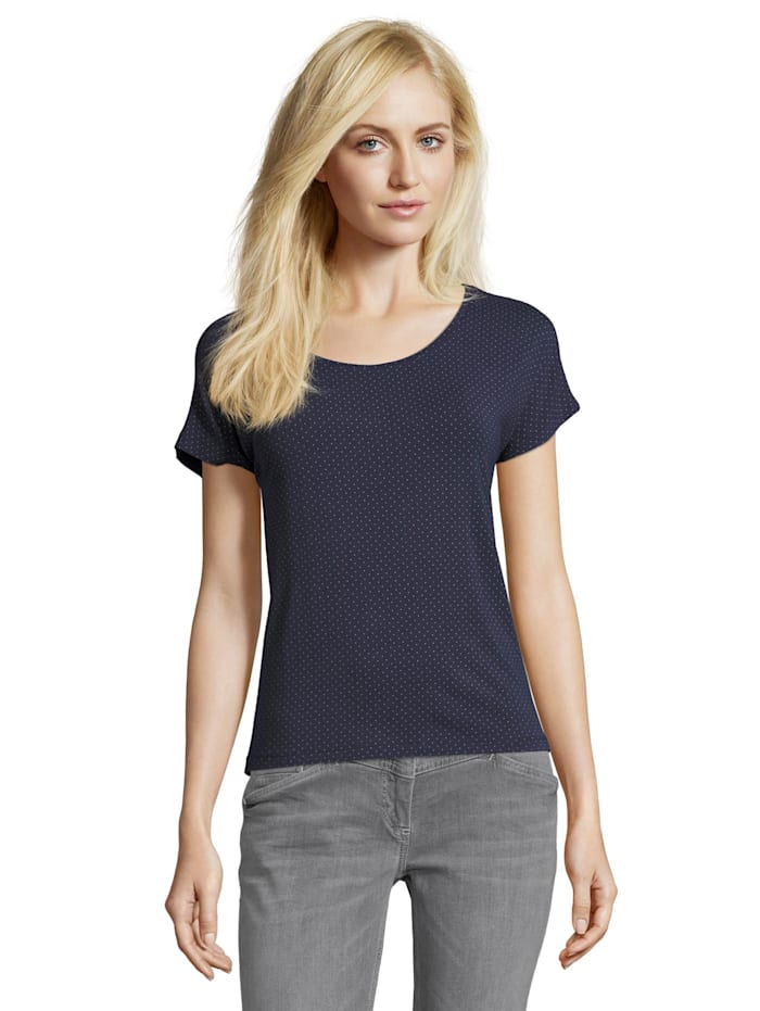 Halbarm-Shirt mit Punkten