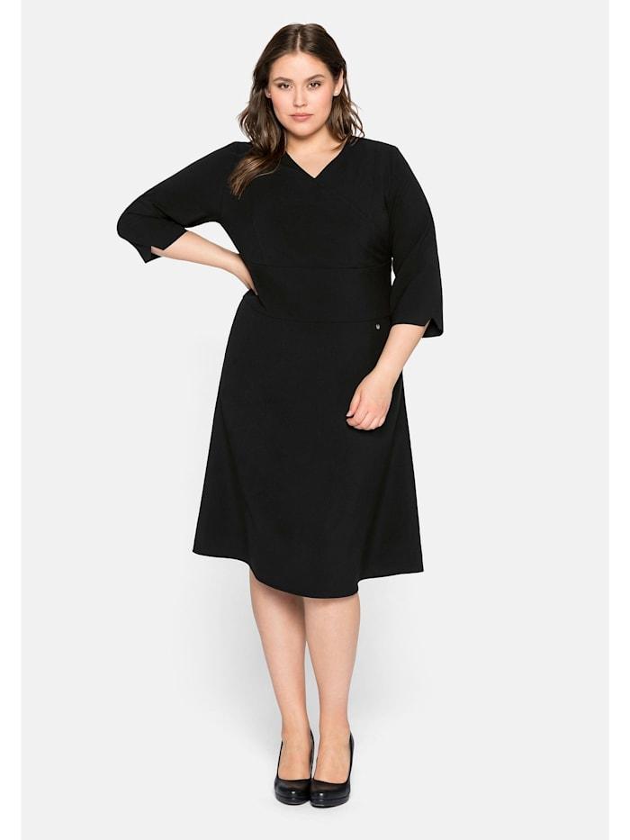 Sheego Sheego Kleid mit Bodyforming-Effekt, schwarz