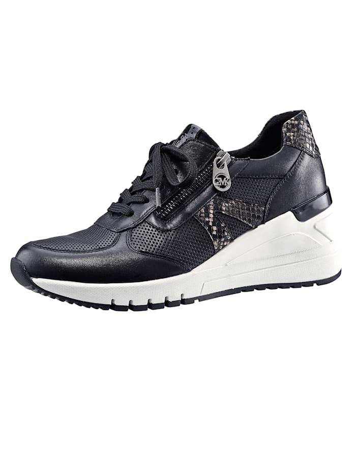 Marco Tozzi Sneaker in modieuze stijl, Zwart