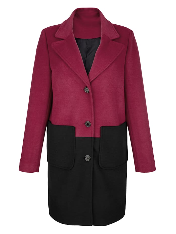 Jacke in schönem Colourblocking-Dessin