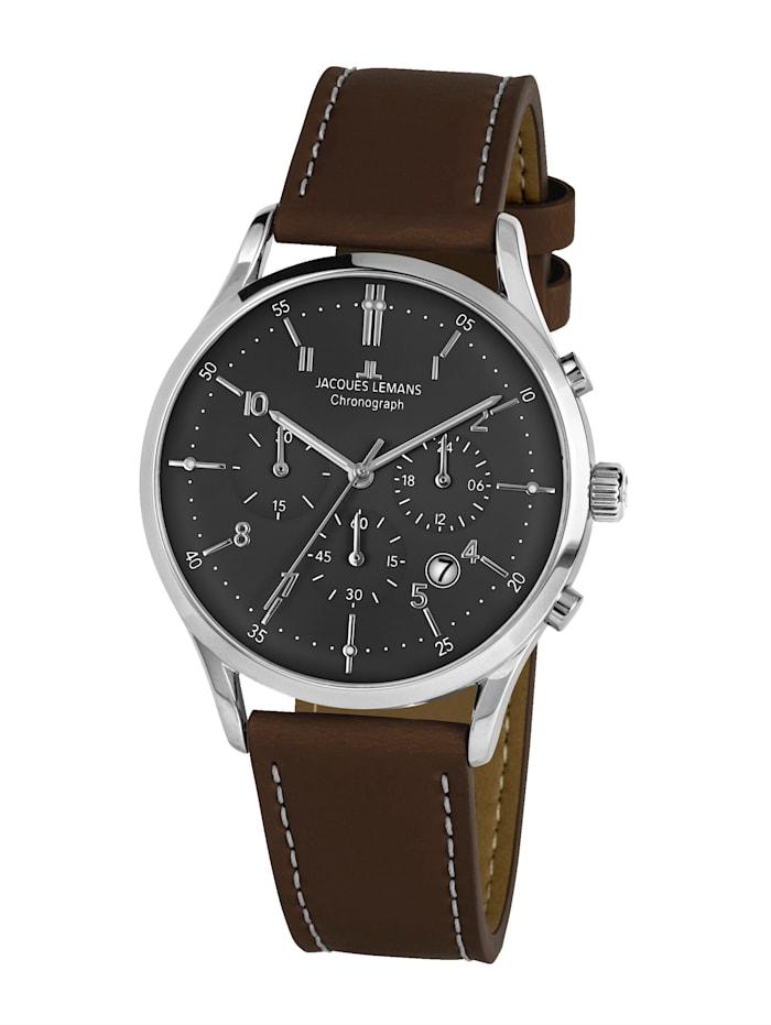 Jacques Lemans Herren-Uhr Chronograph Serie: Retro Classic, Kollektion: Retro Classic: 1- 2068M, Dunkelbraun