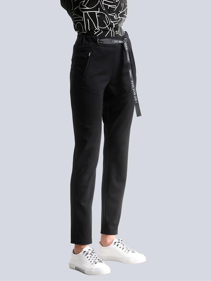 Alba Moda Broek in jogpantstyle, Zwart