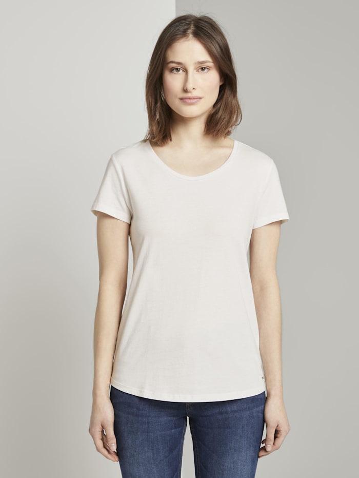 Tom Tailor Denim T-Shirt im Doppelpack, navy white logo print