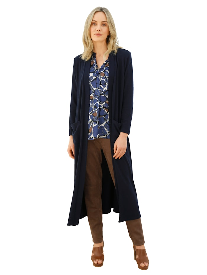 AMY VERMONT Shirtjacke in langer Form, Camel