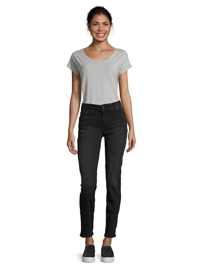 Betty & Co Basic-Jeans mit Waschung Taschen, Black Denim