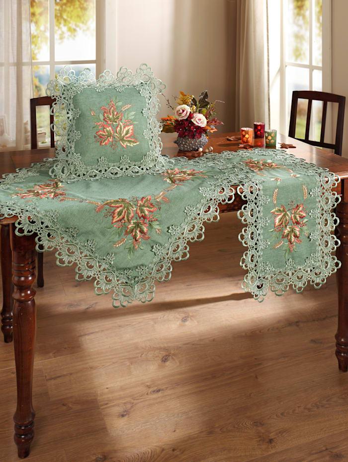 Webschatz Linge de table 'Akina', Vert