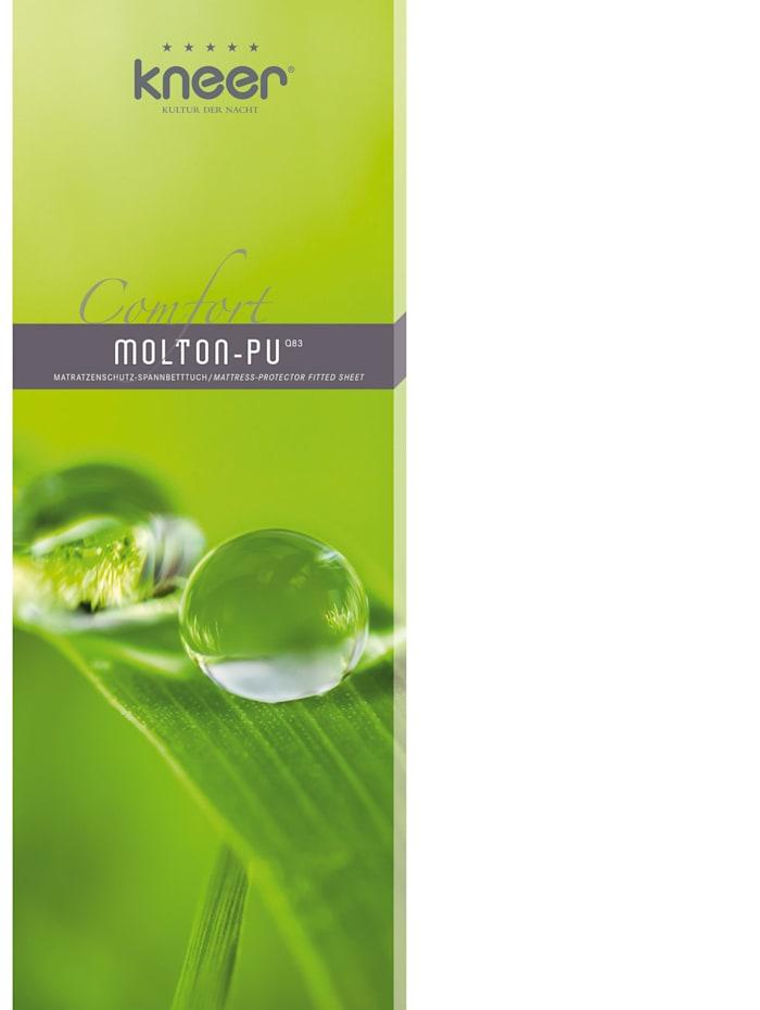 kneer Matratzen-Schutzbezug Schonbezug Comfort Molton-PU Q 83 bis 30 cm hoch, weiß