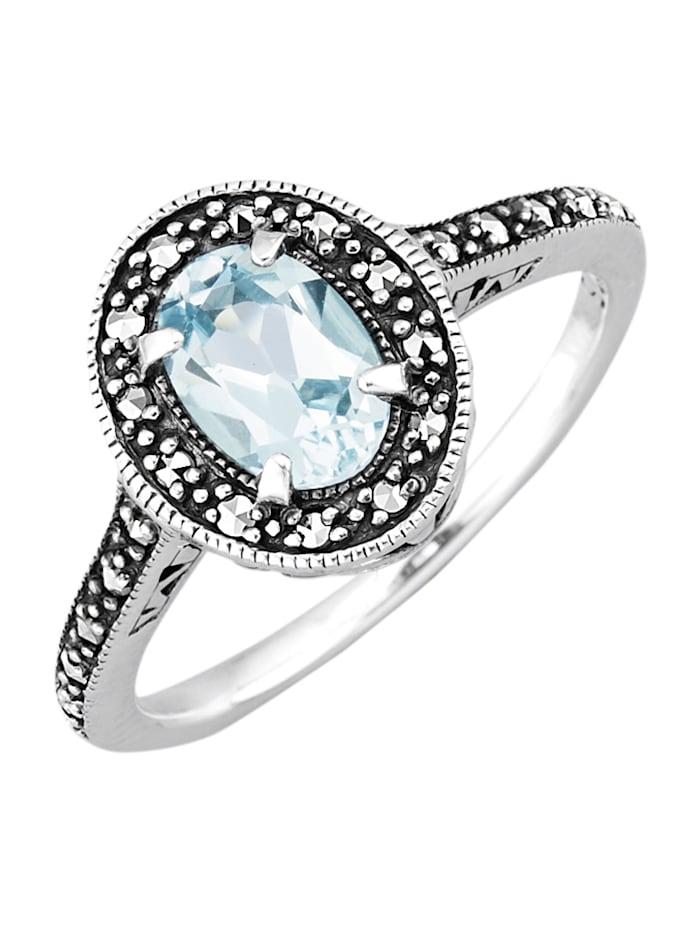 Esse Damenring in Silber 925, Blau