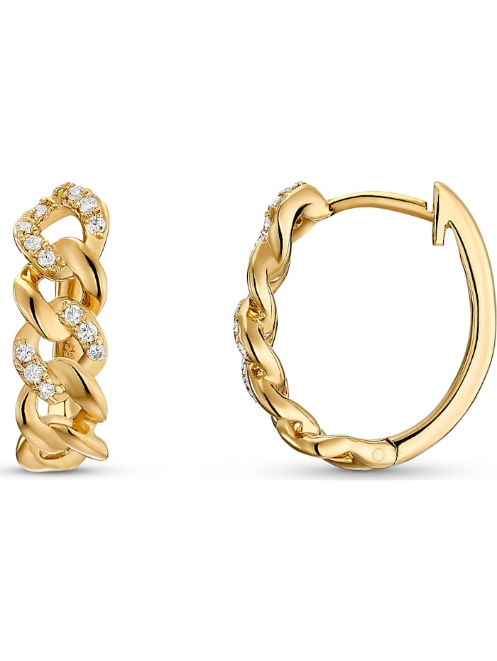 CHRIST Damen-Ohrstecker 585er Gelbgold 26 Diamant