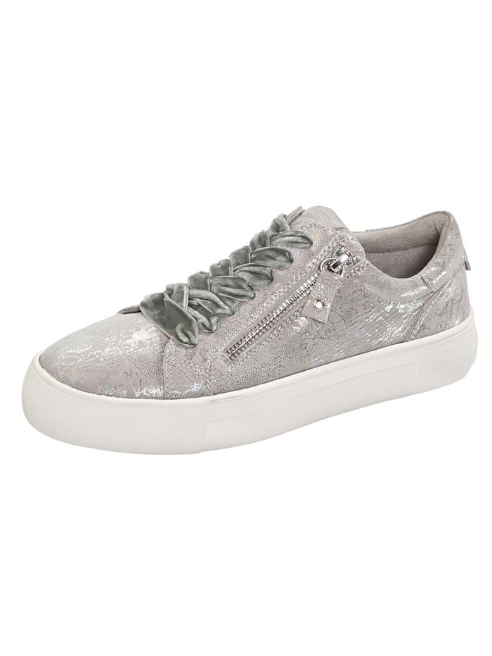 Liva Loop Sneakers à plateau avec glissière côté, Gris clair
