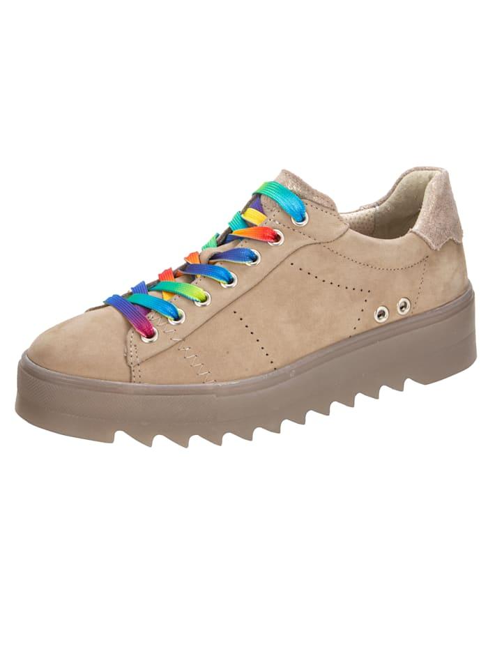 Naturläufer Sneakers à plateau à lacets colorés, Sable