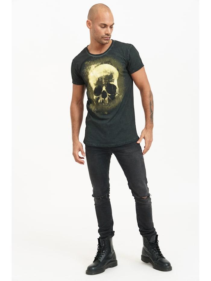 T-Shirt Blaine mit Totenkopf-Print