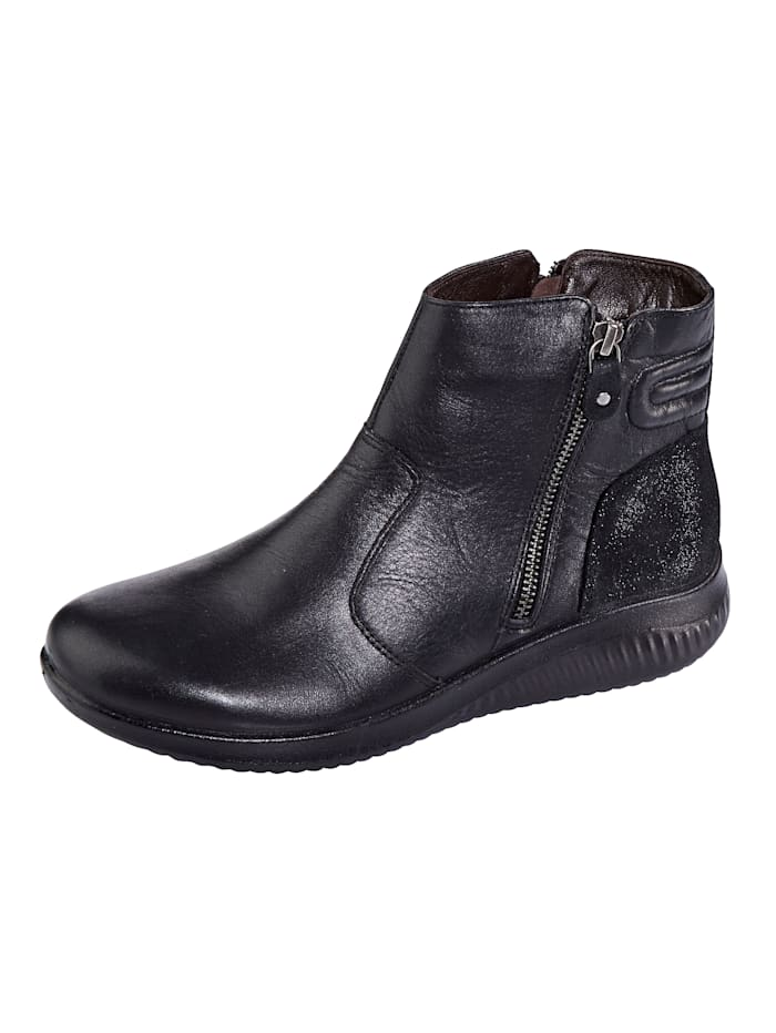 Naturläufer Ankle boots with wool lining, Black