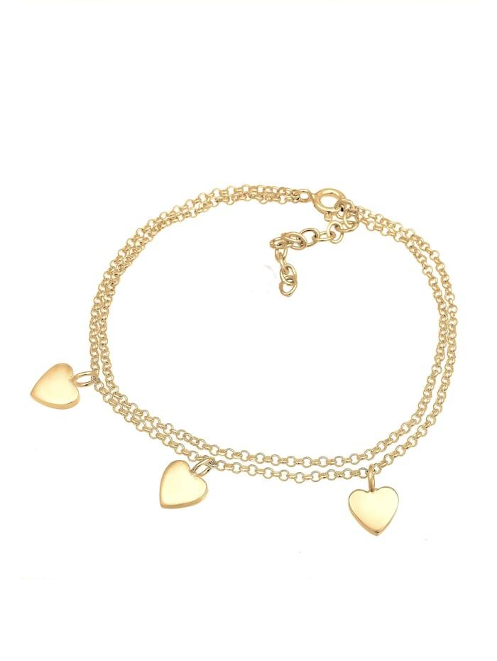 Armband Herz Symbol Love Trio Layer Erbskette 925 Silber