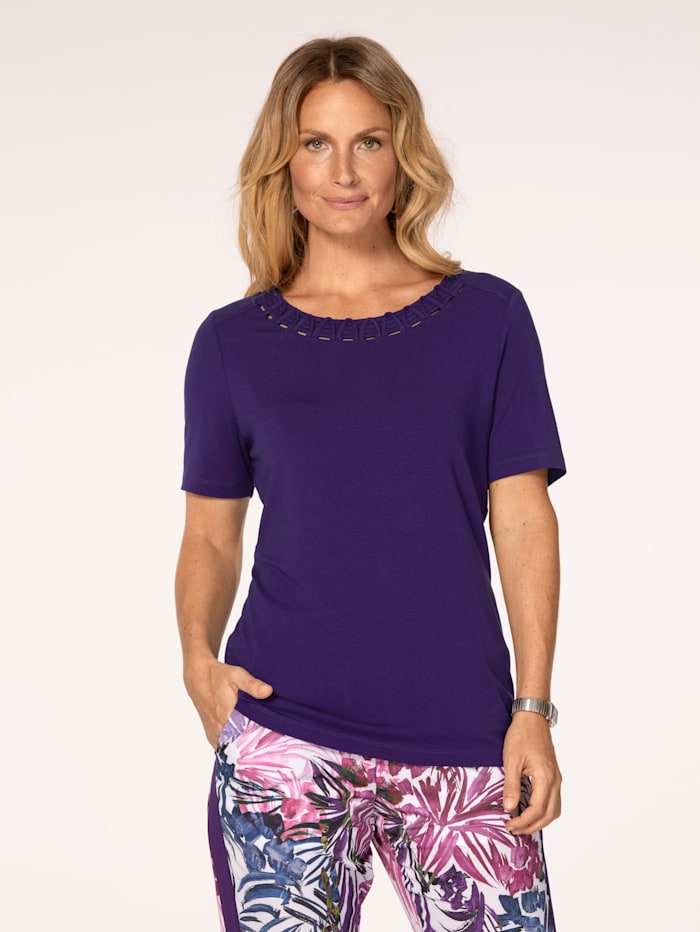 MONA Top with cutout detailing, Purple
