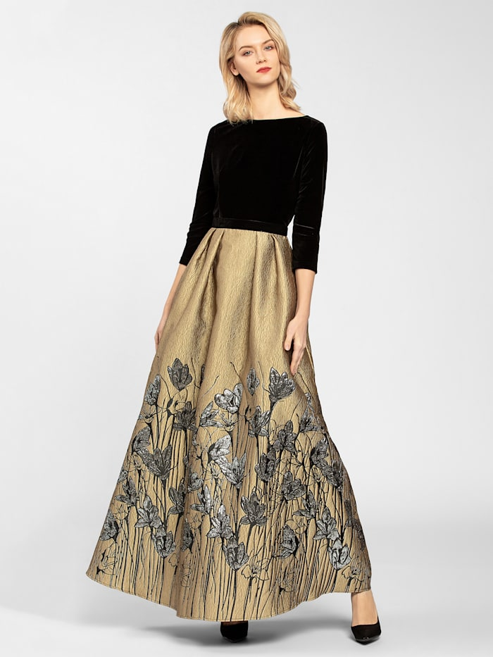 Jacquardkleid aus leicht gecrinkeltem Stoff