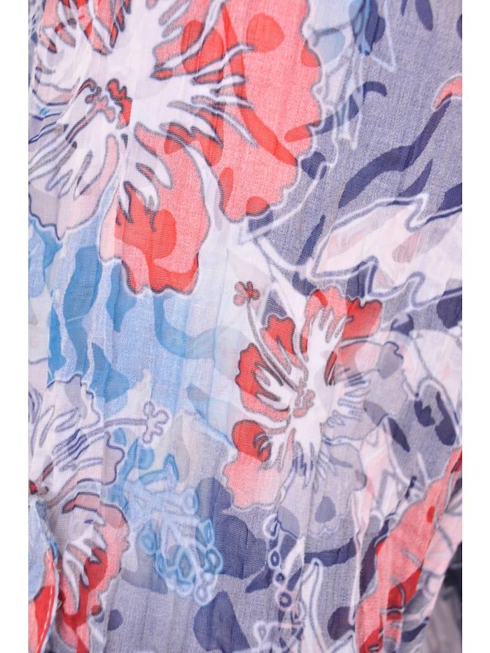 Crush-Tunika mit Blüten