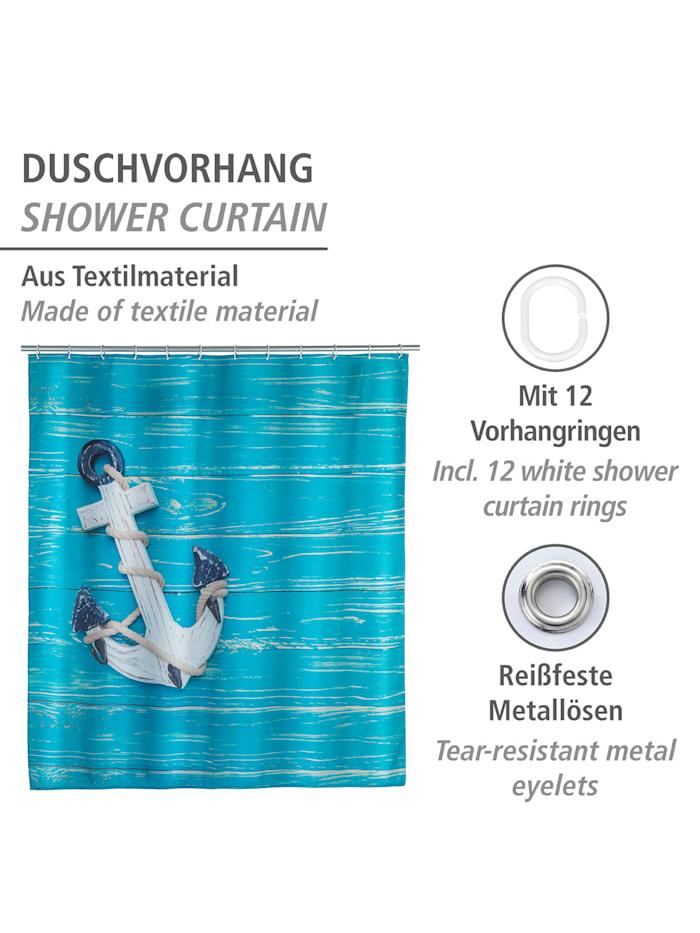 Duschvorhang Aboard, Textil (Polyester), 180 x 200 cm, waschbar