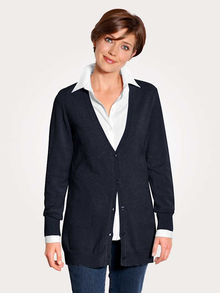 MONA Cardigan made from a super soft fabric, Navy