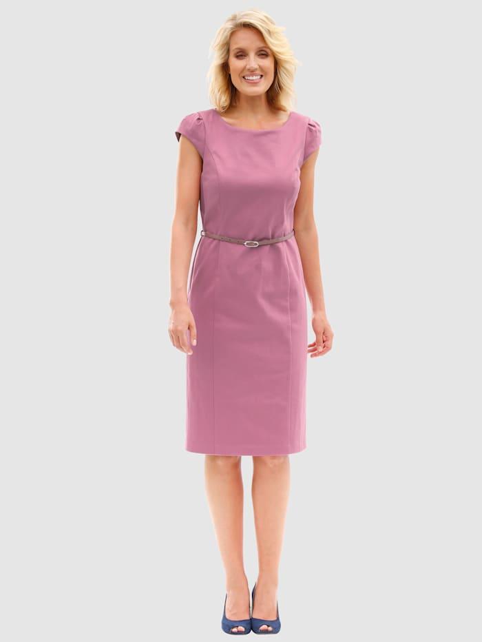 Paola Kleid mit abnehmbarem Gürtel, Rosé