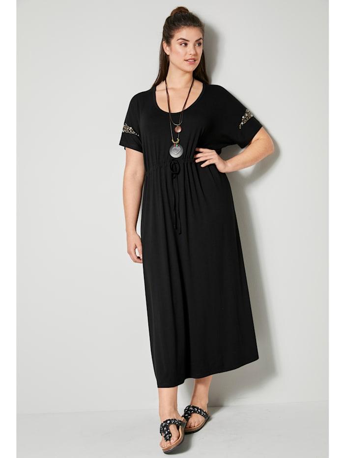 Maxi-jurk met glanzende klinknageltjes