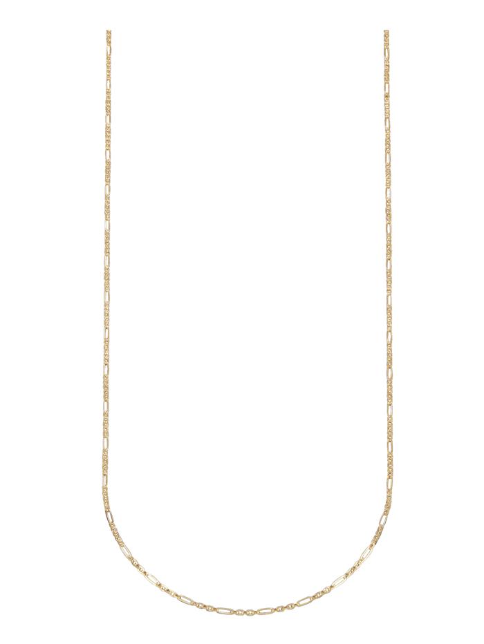 Amara Gold Figarokette in Gelbgold, Gelbgoldfarben