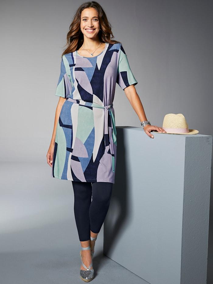 MIAMODA Longshirt mit grafischem Druck, Multicolor