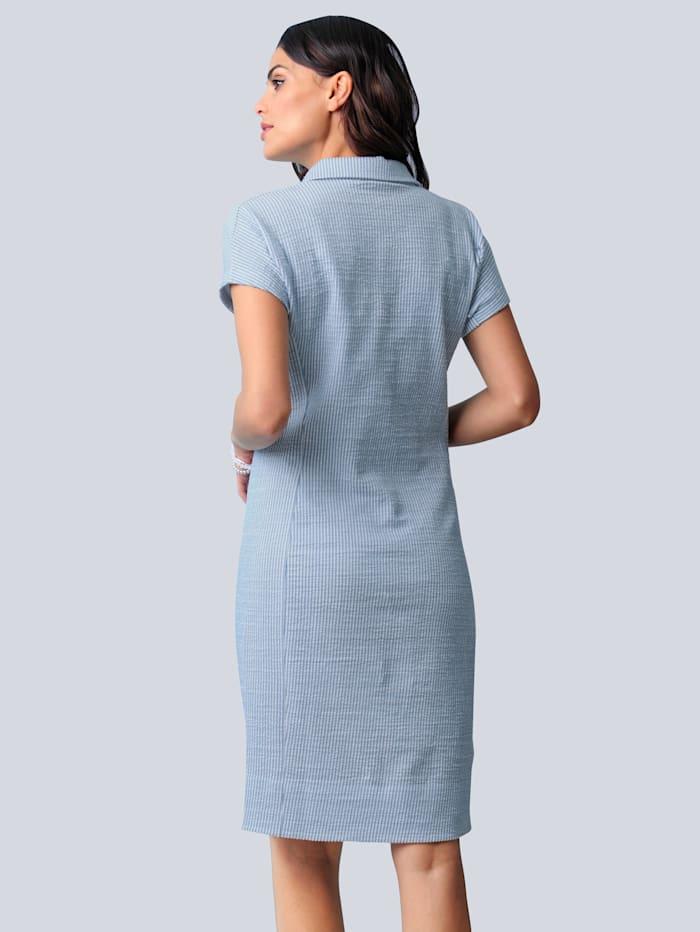 Jerseyklänning i luftig bäckebölja