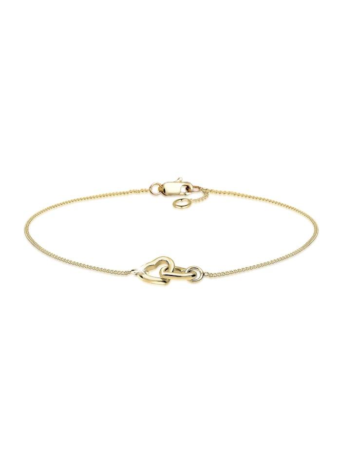 Elli Premium Armband Herz 375 Gelbgold, Gold