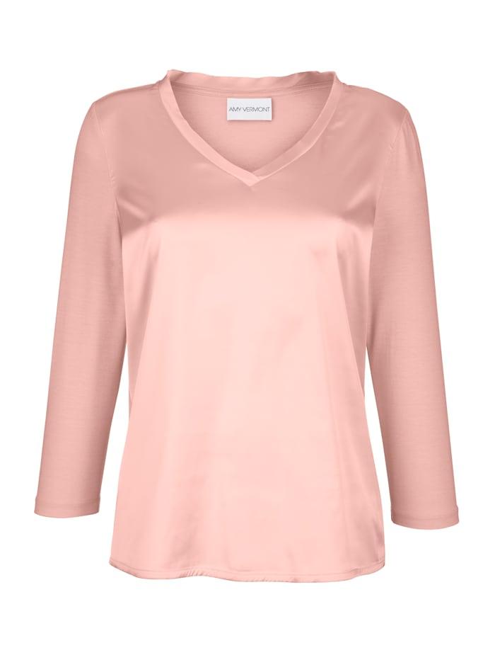 Shirt in schimmernder Satin-Qualität
