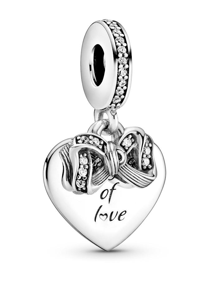 Pandora Charm-Anhänger -Liebesherz 799221C01, Silberfarben