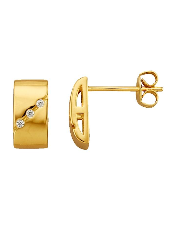 Golden Style Ohrstecker vergoldet, Gelbgoldfarben