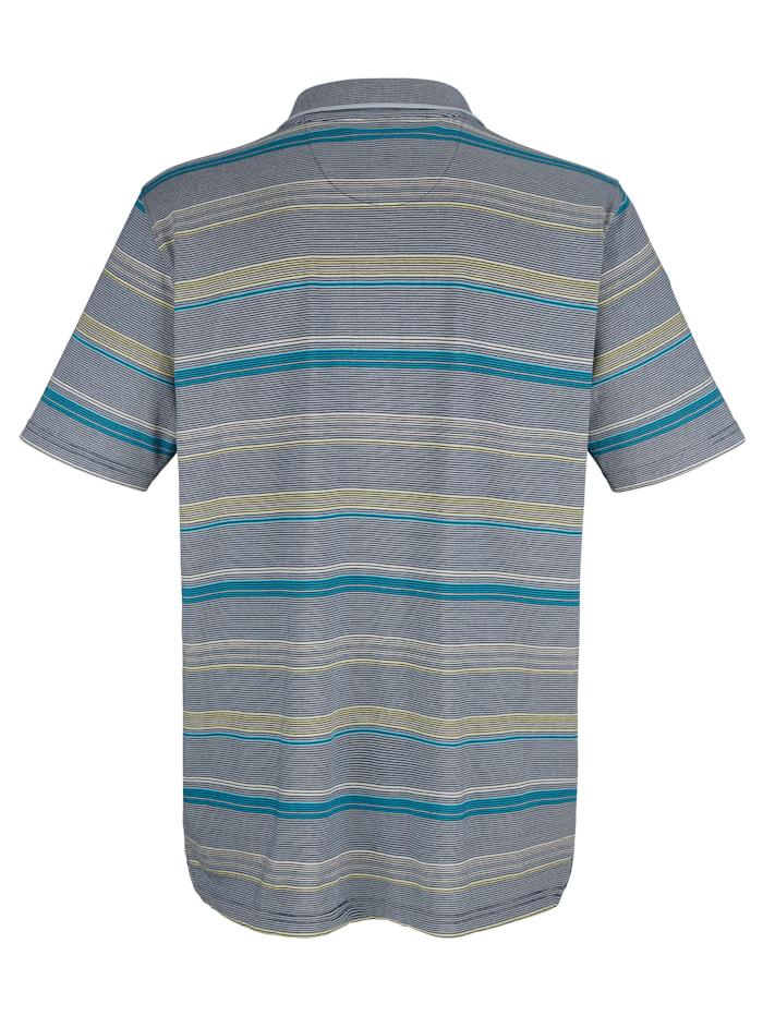 Poloshirt met ingebreid streepdessin