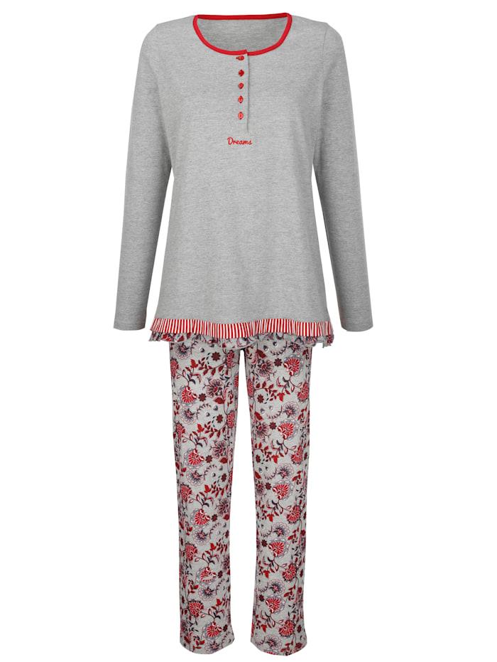 Schlafanzug mit süßem Volant