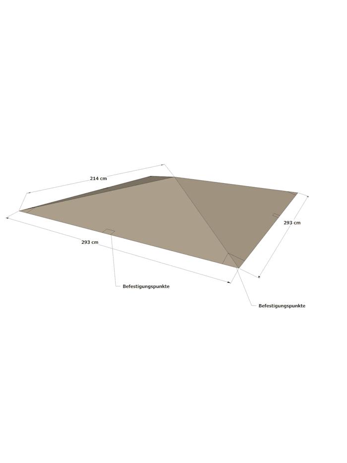 Universal Ersatzdach 293 x 293 cm  Polyester Taupe mit UV Schutz,  wasserabweisend