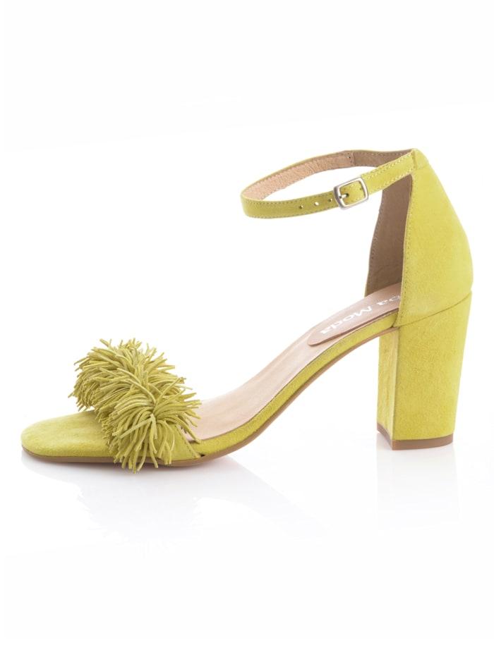 Sandaaltje met fijne franjes
