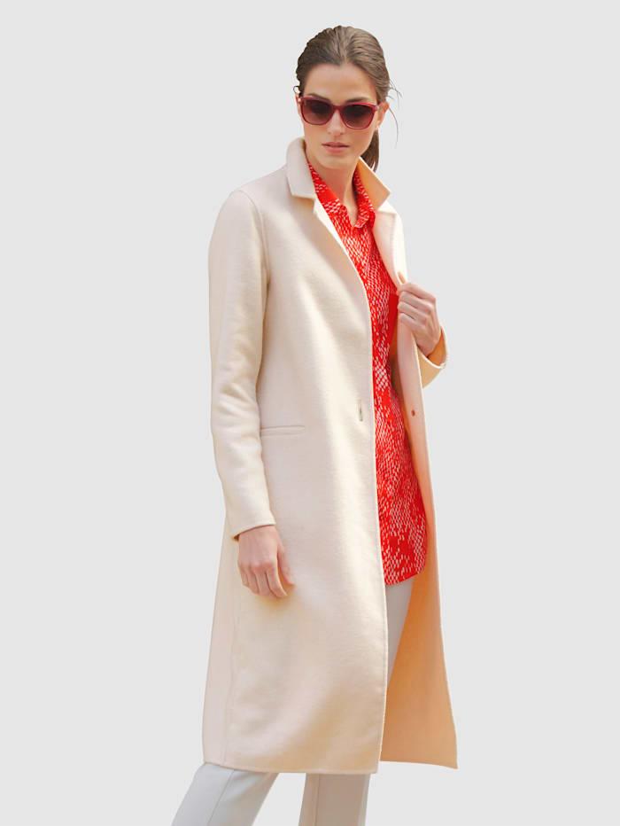 Alba Moda Mantel in schöner Qualität mit hohem Woll-Anteil, Nude