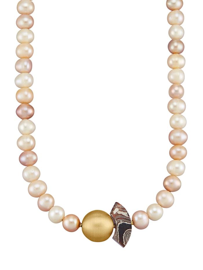 Amara Perles Collier en perles de culture d'eau douce, Rose