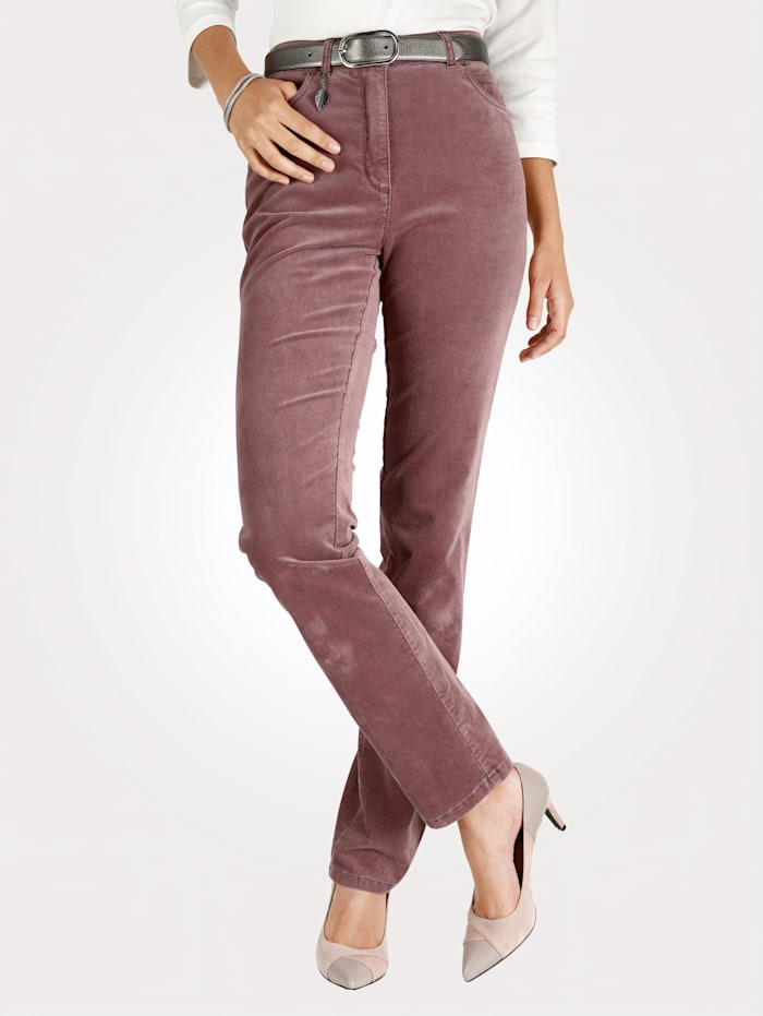 Toni Trousers made of soft sturdy velvet, Rose